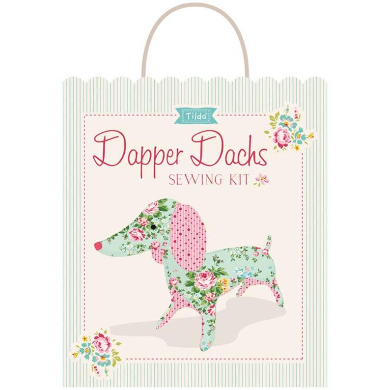 Free Shipping APPLE BUTTER TILDA Dapper Dachs Dachshund Dog Sewing Kit  8 x 16.5