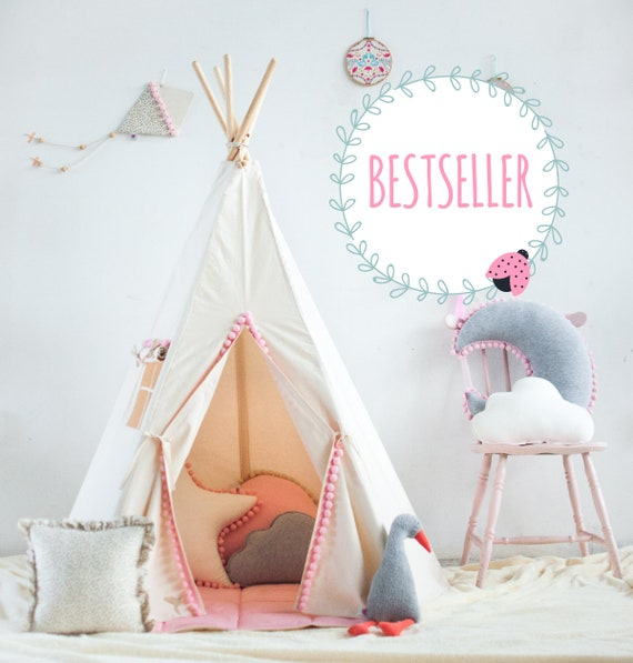original tipi zelt f r kinder teepee tent tipi zelt etsy. Black Bedroom Furniture Sets. Home Design Ideas