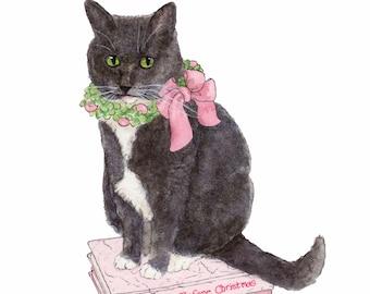 Christmas Kitty Card