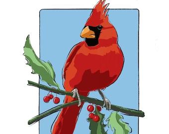 Cardinal Holiday Card
