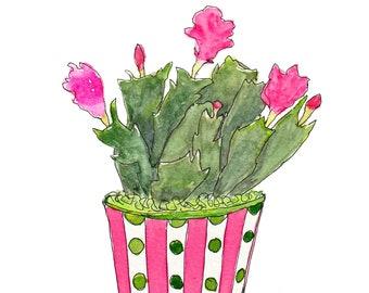 Christmas Cactus Holiday Card