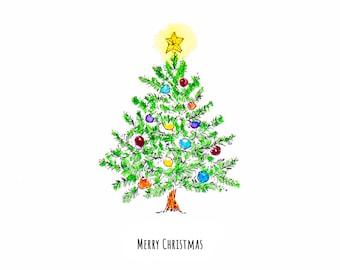 Oh, Christmas Tree! Blank card