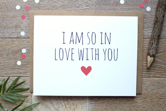 Cute Funny I Love You Card Valentines Day Card I Am So Etsy