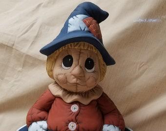 Scarecrow, harvest, decoration, Halloween, fall, pumpkin, corn field, crow, hay, candy, trick or treat, gift, handmade, handpainted