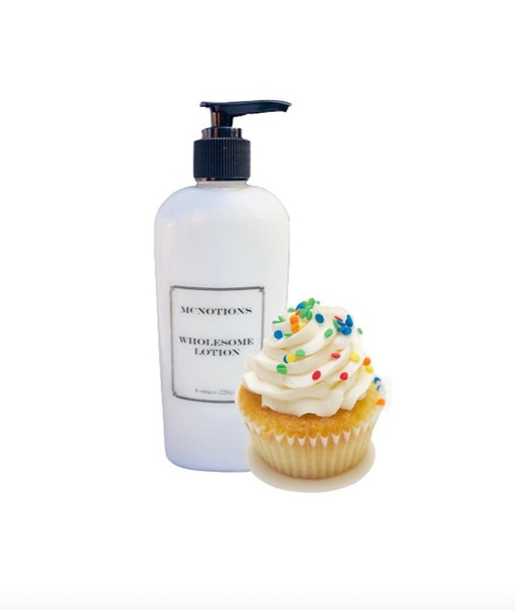 Personalized Birthday Cake Lotion Gift With Customized Label
