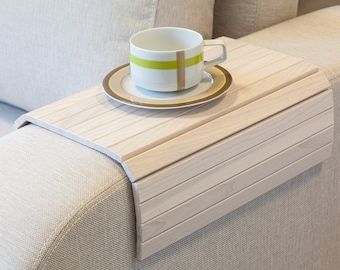 Sofa Tray Table WHITE / Tray Table / Wooden Coffee Table / Lap Desk / Small Spaces / Wooden Tray / Sofa Arm Table / Gift For Mum / Moving