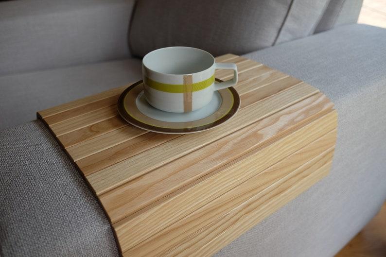 Etonnant Sofa Tray Table NATURAL / Sofa Arm Tray / Sofa Arm Table / Laptop Tray Wood  / Armrest Table / Couch Tray / Wooden Ottoman Tray / Couch Table