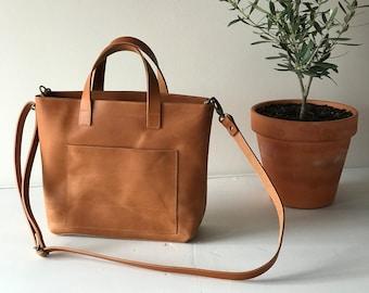 Small Leather Tote bag. Mini crossbody bag. Mini Cap Sa Sal Bag. Small Crossbody leather bag. Leather purse. Handmade.