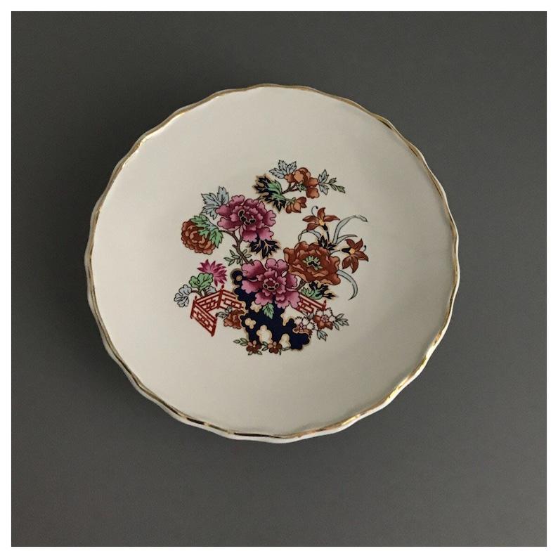 Floral Oriental Vintage Mason/'s Ironstone /'Chinese Garden/' Small Cake StandBonbon Dish