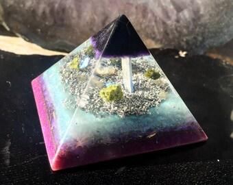 Shungite Orgonite Meditation Pyramid
