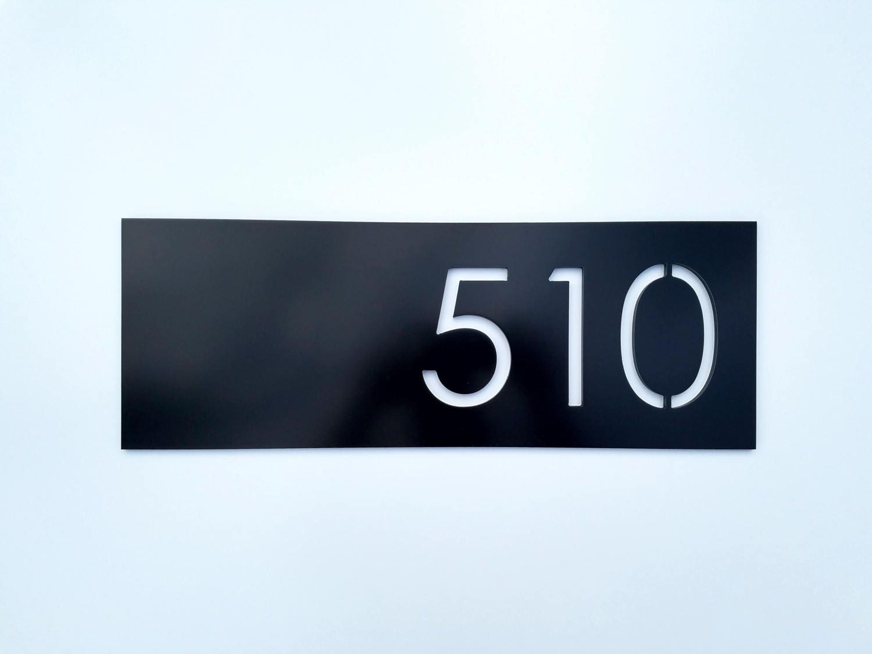 House Numbers Modern Black Address Plaque Street Address Sign Home