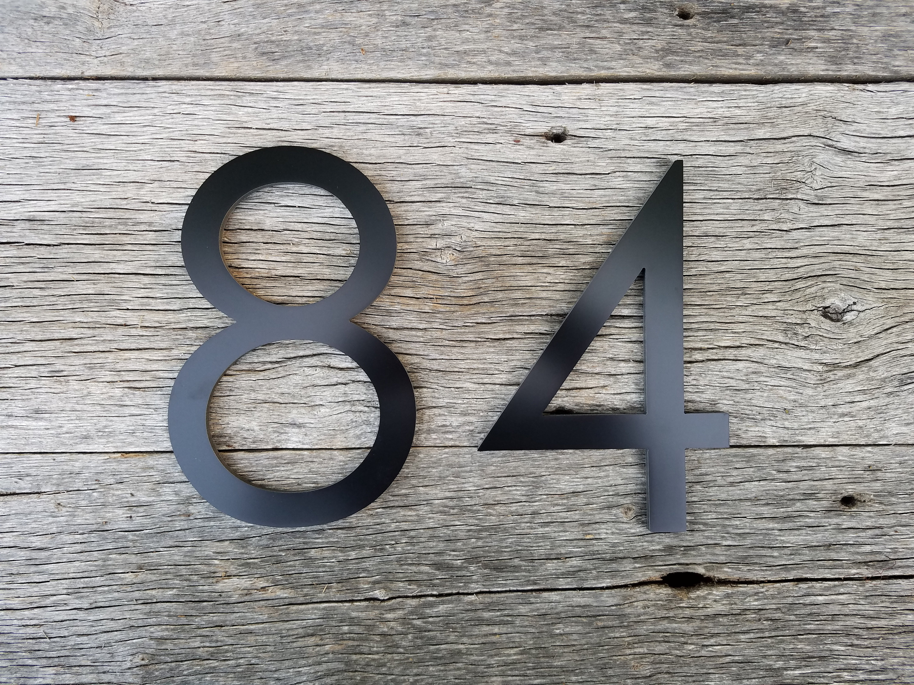 8\'\' Black Modern House Numbers Stud Mounted Address ...