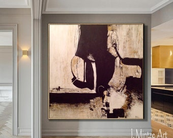 Sale Large Abstract Artwork, Black and White Art, Modern Art, Neutral Artwork, Original Artwork, Contemporary Art, Large Art, Canvas Art