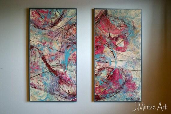 Sale Original Abstract Art Wall Art Set of 2 Wall Art Sets | Etsy