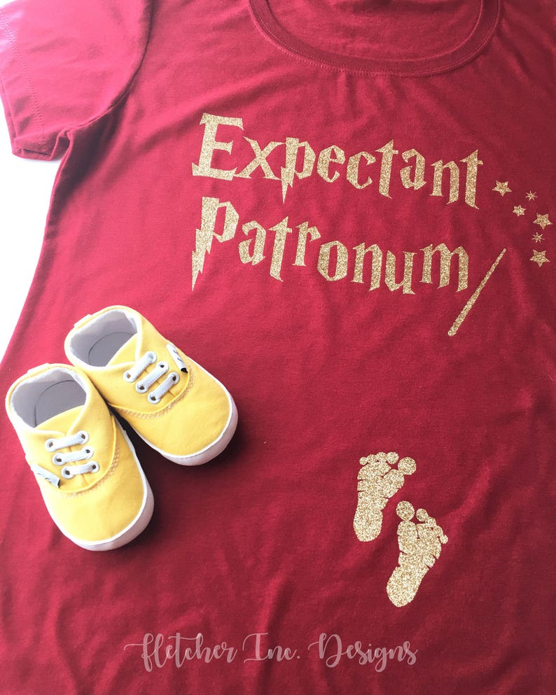 8bf9e2f2735c8 RTS-Expectant Patronum Baby On Board Baby Announcement | Etsy