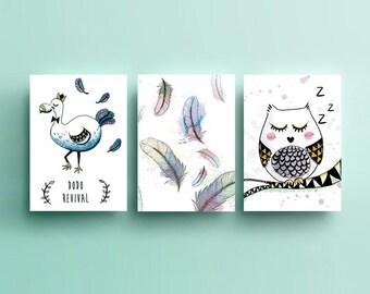 Pack 3 posters - illustration - decoration