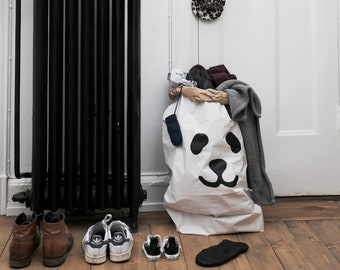 Stockage paperbag Panda de jouets livres ou ours en peluche - intérieur enfants