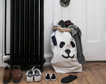 Panda paperbag storage of toys books or teddy bears - Kids interior