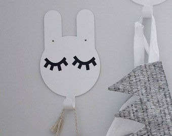 Bunny Hook with magnetic illustrations.