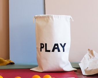 PLAY fabric bag storage of toys books or teddy bears - Kids interior