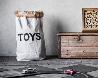 Toys paper bag storage of toys books or teddy bears - Kids interior