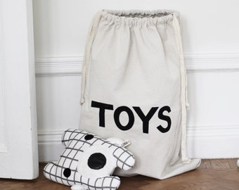 TOYS fabric bag storage of toys books or teddy bears - Kids interior