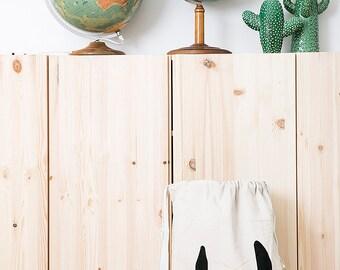 Superhero fabric bag storage of toys books or teddy bears - Kids interior