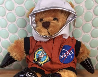 Vintage plushland NASA Space Shuttle Program STS-135 Ferguson Hurley Toy Bear 102016