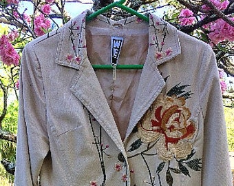 3efba6e33db1 Vintage WE Fashion Embroidered Long Cotton Coat Duster