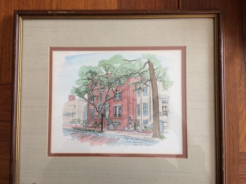 9c769989984 Pamela Lee Signed and framed print 16 x 14 / Wilkes Boarding House,  Savannah GA