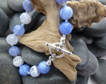 Sodalite Bracelet with Pewter Toggle