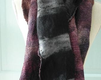 Silk and Wool Nuno Felted Scarf