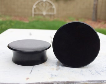 """BACK IN STOCK! Big Mayan Flare Black Areng Wood Plugs 9/16"""" 5/8"""" 3/4"""" 7/8"""" 15/16"""" One Inch (26mm) 1 1/8"""" (27mm) 1 3/16"""" (30mm)"""