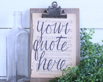 Customizable Hand Lettered Hymnal Page
