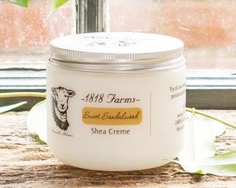Sweet Sandalwood Shea Creme - 1818 Farms - 4 fl oz jar