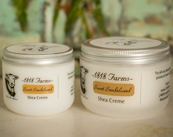 Sweet Sandalwood Shea Creme - 1818 Farms - 4 fl oz or 8 fl oz