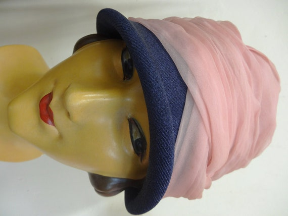 20's Cloche Hat. Candy Floss.