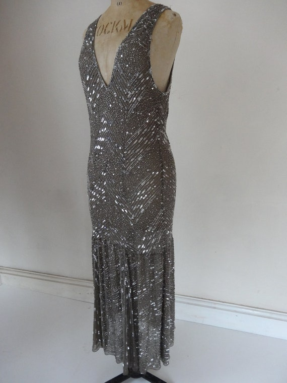 30's Dress. Silver Mermaid.