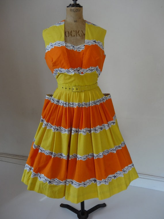 SOLD. 50's Horrockses Dress. Tropicana.