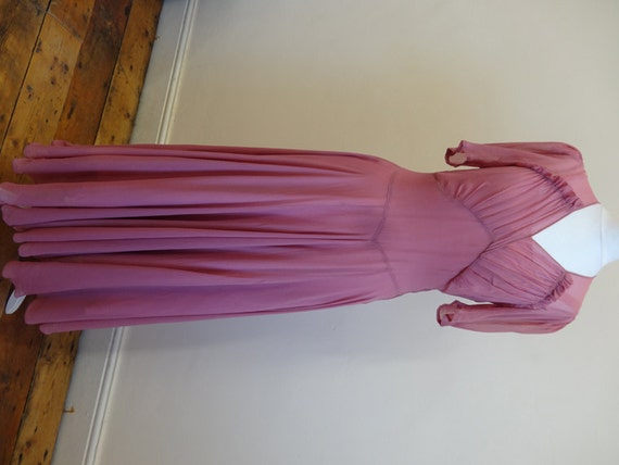 30's dress. Rose silk georgette.