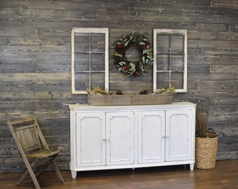 Shiplap Wall Weathered Gray Feature Accent Wood Modern Farmhouse Decor Distressed Siding Ceiling
