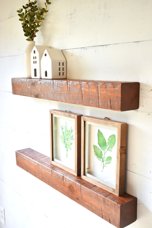 Floating Shelf Wall Shelf Shelves Wood Floating Shelves | Etsy