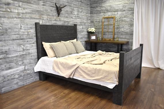 Platform Bed, Bedroom Furniture, Queen Bed, Modern Farmhouse, King Platform  Bed, Wood Beds, Wood Bed Frame,Wood Headboard, Rustic Bed Frame