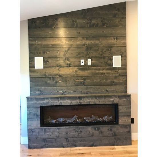 1x8 Wood Accent Wall: Shiplap Wall Weathered Gray Feature Wall Accent Wall Wood