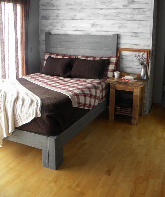 Platform Bed Platform Bed Queen Bed Headboard Bed Frame Etsy