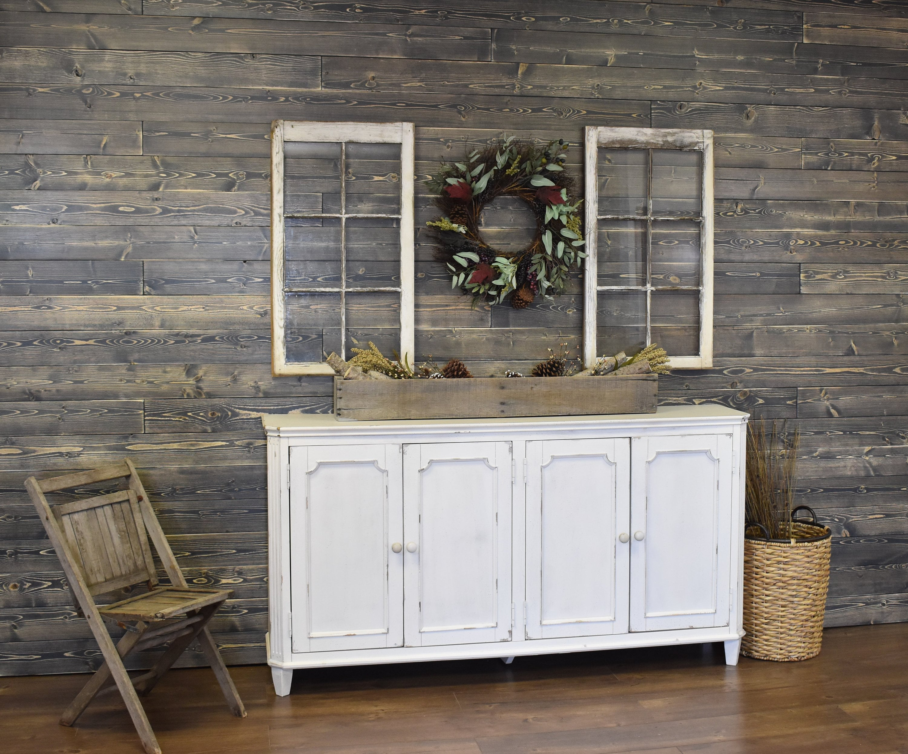 Shiplap Wall Weathered Gray Feature Wall Accent Wall Wood