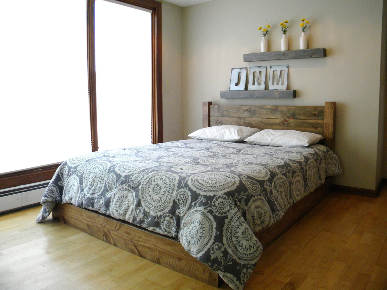 Platform bed simple platform bed bedroom furniture platform bed frame queen platform bed queen headboard rustic home decor king size