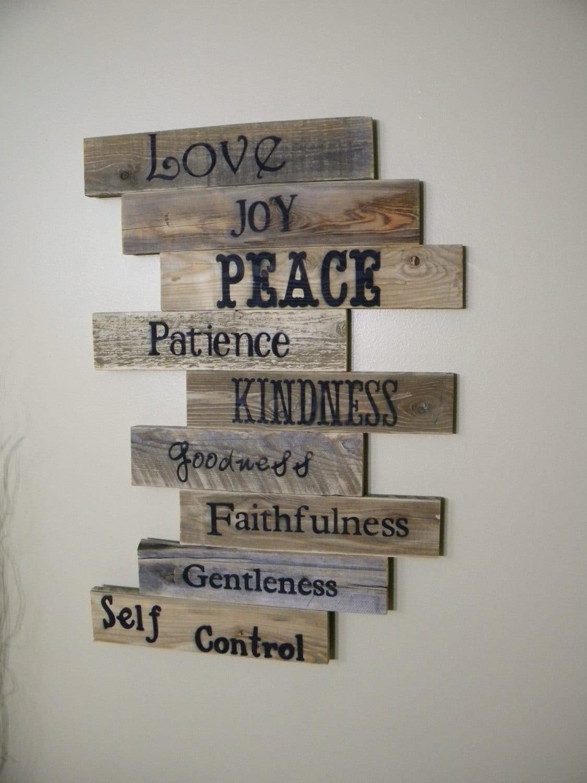 Wood Sign Pallet Sign Pallet Art Fruits Of The Spirit Etsy