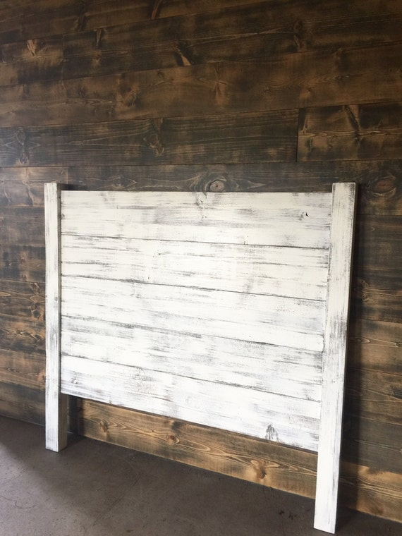 Shiplap Headboard Queen Wood Farmhouse