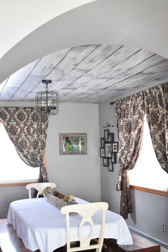 Shiplap Feature Wall Distressed Gray And White Accent Wall
